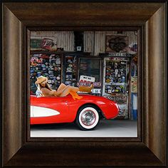 Racy on Route 66 By Todd Thunstedt 20x20 Red Corvette Chevelle SS Camaro Pontiac GTO Judge Buick Chevy Chevrolet Chevelle Framed Auto Art Print Wall Hanging Décor Picture ThunderMark Art and Graphics http://www.amazon.com/dp/B014IELH64/ref=cm_sw_r_pi_dp_rk34vb1N2A66M