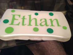Personalized baby wipe case for baby shower
