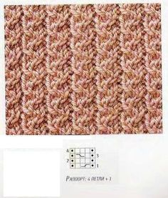Узоры из перекрещенных петель в копилку мастерам | Ниточки-клубочки | Яндекс Дзен Easy Scarf Knitting Patterns, Knitting Stiches, Knitting Charts, Knitting Designs, Knit Patterns, Knitting Projects, Crochet Stitches, Baby Knitting, Stitch Patterns