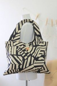 """Geometric Oversized Carry-All #Tote Bag"". Loving the Etsy items listed by seller Miguez Tabora!  I heard about this shop via my Etsy Item of the Day shop submission page.    My favorite item in Miguez' Etsy shop is this awesome carry-all tote, which is selling for $40.00.  Isn't it lovely?    Read my interview with this seller here:  http://etsyitemoftheday.com/geometric-oversized-carry-all-tote-bag/ #handmade"