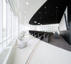 AUDITORIUM- Eneco Headquarters in Rotterdam by Hofman Dujardin Architects and Fokkema Commercial Interior Design, Interior Design Companies, Office Interior Design, Commercial Interiors, Espace Design, H Design, Wall Design, Corporate Interiors, Office Interiors