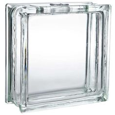 "8"" x 8"" Deco Blok Glass Block with Hole"
