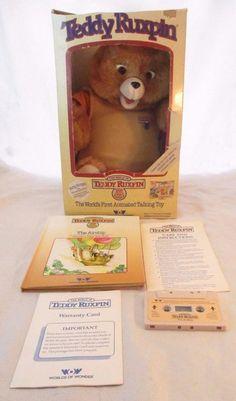 Teddy Ruxpin Book Cassette Box Instructions Worlds of Wonder 1985 WORKS 100% #WorldsofWonder #AllOccasion