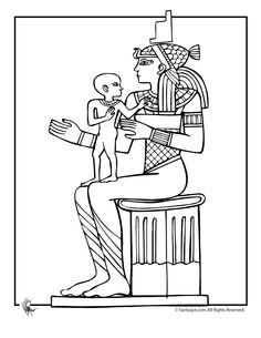 egypt coloring pages for preschoolers - photo#37