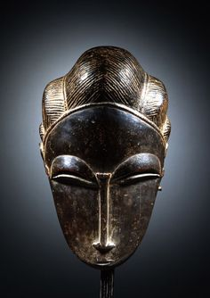 Baule Portrait Mask - now in the collection of the Yale University Art Gallery, New Haven Ivory Coast, Wood, century, Height: 27 cm Arte Tribal, Tribal Art, Contemporary African Art, African Sculptures, Art Premier, Statues, Masks Art, African Masks, 3d Prints