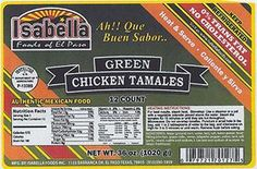 Isabella Foods recalls chicken and pork tamale products