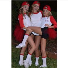 cute diy baseball halloween costumes!                                                                                                                                                                                 More