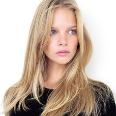 marloes horst polaroid .. blonde hair