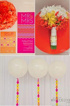 Jonathan Adler Inspired Wedding Shoot, Orange Wedding Inspiration