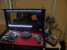 Red Makeup Desk