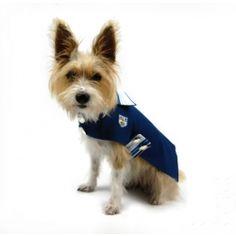 Cornflower Blue Jersey Stripe Dog Coat