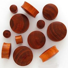 Zebra Wood Organic Flared Ear Tunnel Plug 3.2mm 30mm *FREE POST*