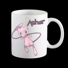 Personalised Mew Pokemon Mug