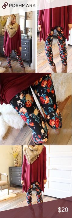 Rose Print Floral Leggings Rose pattern floral Leggings. 92% polyester and 8% spandex. One size fits most. Fits up to a size 12. Photo credit Infinity Raine. Infinity Raine Pants Leggings