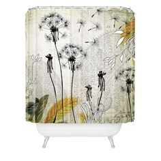 DENY Designs Home Accessories | Iveta Abolina Little Dandelion Shower Curtain