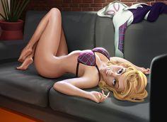 арт девушка,красивые картинки,Gwen Stacy,Женщина-Паук, Гвен-Паук, Гвен Стейси ,Marvel,Вселенная Марвел,фэндомы,Marvel Ero,Эротика,баян