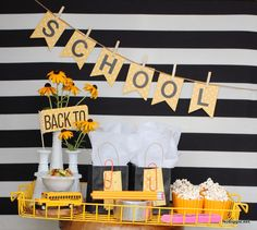 Simple back to school party ideas to celebrate back to school from MichaelsMakers No Biggie Back To School Party, Going Back To School, Back To School Gifts, Back 2 School, 1st Day Of School, School Parties, School Fun, School Days, School Decorations