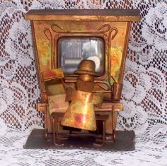 vintage music box player piano rare by CrabApplCreations on Etsy, $30.00