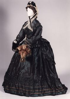 Day dress ca. 1868 From the Royal Museums of Art and History