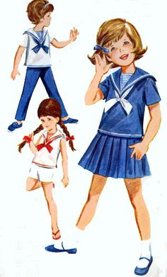 Ohmygosh!  My mom has this pattern and I totally wore these outfits as a little girl!