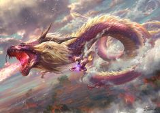 New tricks of the legendary project - ART By Tswck - Guangzhou Mythical Creatures Art, Mythological Creatures, Fantasy Monster, Monster Art, Dark Fantasy Art, Fantasy Artwork, Arte Game Of Thrones, Fantasy Beasts, Dragon Artwork