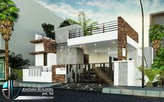 Jehovah Buillders is one of the reputed builders and interior designers in Tamil Nadu. We offer residential flats, villa at an affordable rate all over Tamil Nadu House Elevation, Building Elevation, Front Elevation, Modern Exterior House Designs, Exterior Design, Outdoor Fireplace Designs, Commercial Complex, Building Contractors, Commercial Construction