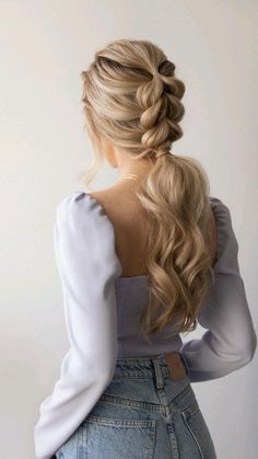 Easy Hairstyles For Long Hair, Braids For Long Hair, Summer Hairstyles, Easy Braided Hairstyles, Braids For Medium Length Hair, Ponytail Hairstyles Tutorial, Unique Hairstyles, Simple Hairstyles For Everyday, Protective Hairstyles