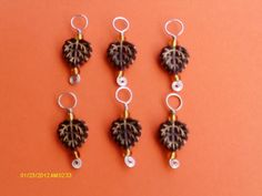 Autumn Leaves Stitch Markers by MyShopGirl on Etsy, $8.50