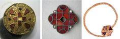 Merovingian jewellery from the cemetary at Grez-Doiceau, Wallon Region, Belgium.