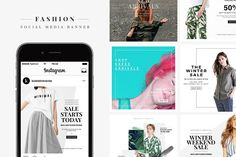 Fashion Media Banner by RZGN on @creativemarket