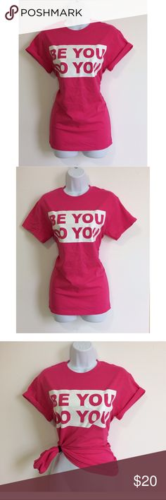 """💞Pink & White Be You Do You Graphic Tee💞 Super cute nice fit & you can wear it 3 different ways! L💜VE it! 100% Cotton """"Be You"""" meaning -Be genuine don't compare yourself to other people.  Don't worry about what people think. Don't let people push you in a direction if you don't agree. Be the person you were created to be. Don't do things you don't want to do. """"Do You"""" means just that! Live life to the fullest. Do what YOU love and what makes YOU happy! Do what's in your best interest…"""