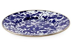S/4 Sandwich Plates, Cobalt Swirl - From the Home Decor Discovery Community at www.DecoandBloom.com