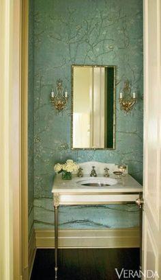 More hidden plumbing. Beautiful sink and wall!
