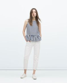 Image 1 of FRILLED TOP from Zara