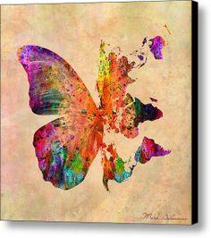 Butterfly World Map by Mark Ashkenazi