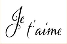 Je t'aime on or inch laser-cut stencil by PearlDesignStudio on Etsy Laser Cut Stencils, Laser Cutting, Etsy, Handmade Gifts, Silhouettes, Paris, Hand Made, T Shirts, September