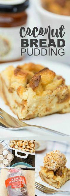Coconut Bread Pudding Recipe via @spaceshipslb (Baking Eggs In Bread)