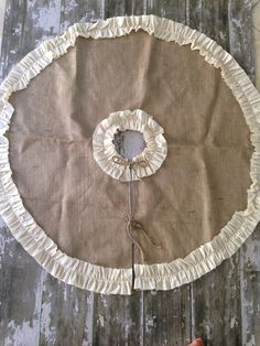 Burlap Christmas Tree Skirt with Ruffle 48 inch by BurlapBabe, $85.00