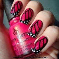 Uñas decoradas alas de mariposas | Decoración de uñas, te enseñamos a decorar tus uñas paso a paso Más