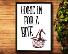 Halloween Printable Come In For A Bite Halloween Printable Halloween Printable, Halloween Poster, Halloween Prints, Etsy Handmade, Printable Wall Art, Trick Or Treat, Decorating Tips, Canvas Wall Art, Halloween Decorations