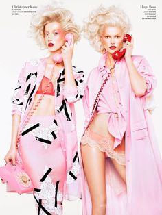"timeless-couture: "" Double Vision Alana Zimmer and Kasia Struss photographed by Sharif Hamza for V Magazine Spring 2013 "" V Magazine, Editorial Shoot, Editorial Photography, Editorial Fashion, Vision Photography, Imagenes Color Pastel, Fashion Photography Inspiration, Style Inspiration, Bette Franke"