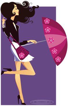 Fashion girl illustrator 02 - vector material
