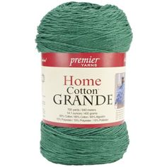 Premier Yarns Solid Home Cotton Grande Yarn Christmas Green -- Check this awesome product by going to the link at the image.Note:It is affiliate link to Amazon. #follow4follow