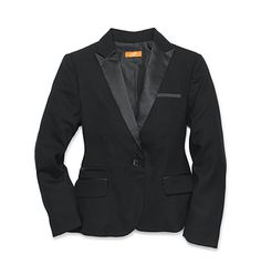 This would go GREAT with either the lace ballet shirt or the tuxedo shirt I just pinned.  Its timeless.  I <3 it! Joe Fresh Women's Tuxedo Jacket