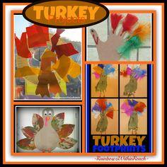 Turkey Projects from Preschool via RainbowsWithinReach