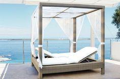 Camas balinesas modernas para exteriores