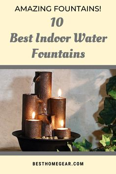 Best Indoor Water Fountains For 2020 - Best Home Gear Rock Fountain, Tabletop Water Fountain, Indoor Water Fountains, Waterfall Fountain, Indoor Fountain, Indoor Water Features, Portable Shelter, Aroma Diffuser, Outdoor Projects