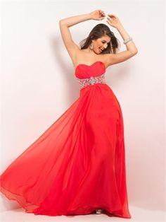 Sweetheart Beaded Waist Low Back Chiffon Floor Length Prom Dress PD11309 www.dresseshouse.co.uk $126.0000