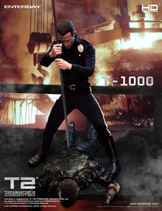Terminator 2 HD Masterpiece Statue 1/4 T-1000 - The Movie Store