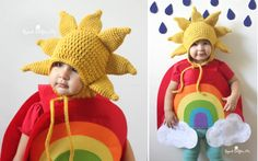 Sunshine Hat and Rainbow Halloween Costume - FREE crochet pattern on Repeat Crafter Me!